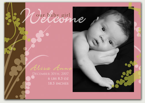 Baby Announcements go from Sassy to Modern – Photo Baby Announcements